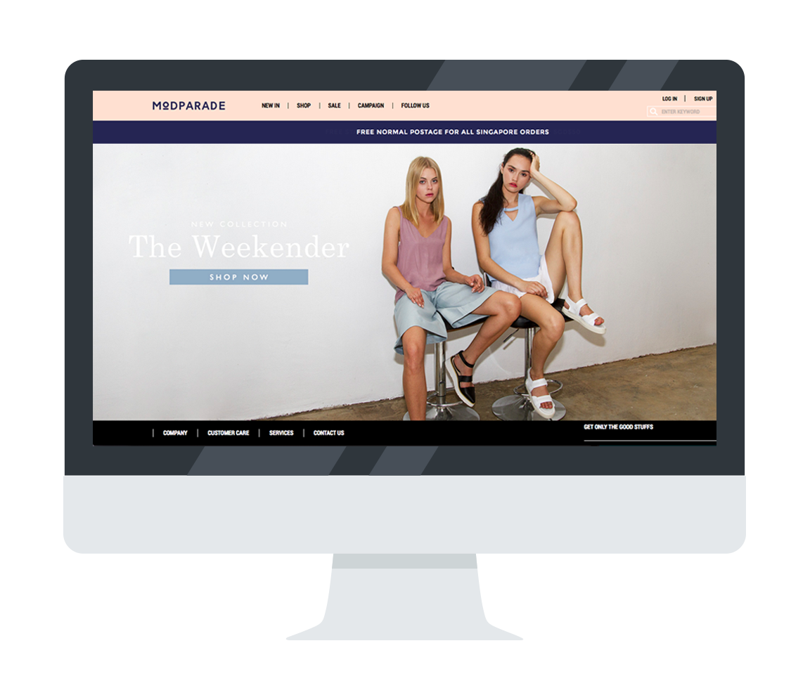 Modparade choose Shopcada for their Ecommerce website development tool